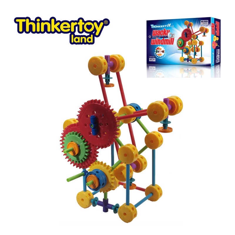 Thinkertoy universal craftsmen wacky windmill blocks curious complex windmill toy