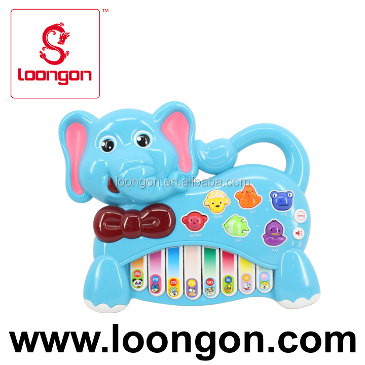 Loongon Cartoon elephant children electronic organ toys