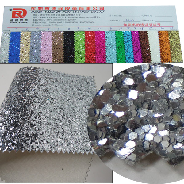 jinhua fabric non-woven wallpaper glitter pu shoe material