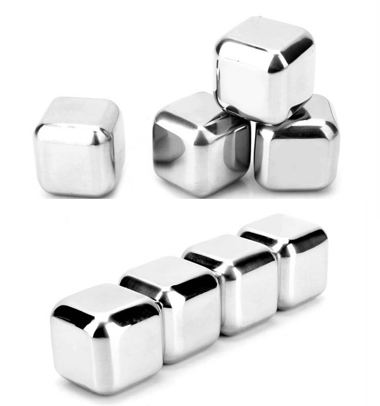 2017 New Products Reusable Stainless Steel Ice Cube