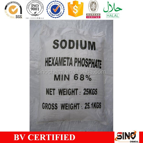 High-efficiency industry grade for water softener chemicals sodium hexametaphosphate SHMP 99%