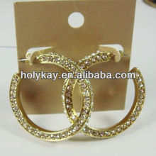 Wholesale alibaba fashion basketball wives earrings jewelry with crystals made in china