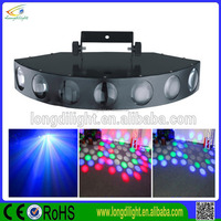 Hot Sell DMX512 Nine Channel Red Green Blue White Yellow Seven Lens Laser Dance Lighting