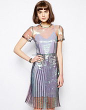 Antipodium Hot Knife Mermaid Dress with Pleated Skirt