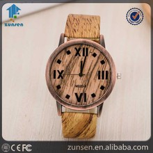 2016 New Arrival Fashion Men's Bamboo Wooden Wristwatches Leather Band Luxury Wood Watches for Women as Gifts Item