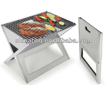 Outdoor Stainless Steel Laptop Grill Portable Folding Bbq Grill