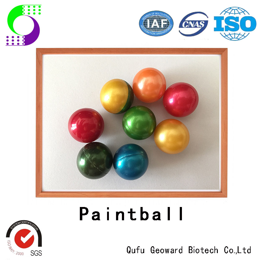 Best quality different color paintballs from china