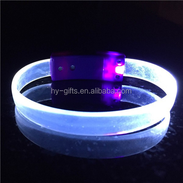 engraved customized led bracelet fashion logo led bracelet gift