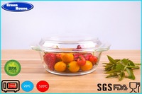 Heat- resistant High borosilicate glass casserole cooking pot customized