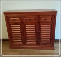 simple style antique solid wood cabinet for shoe display