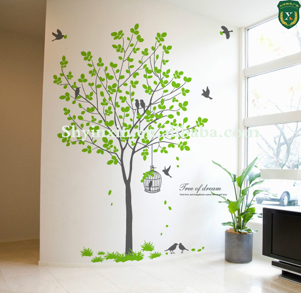 Durable quality custom design removable art adhesive wall vinyl decals