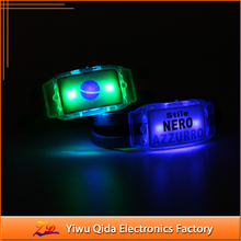 sports match custom logo cheering and custom flag silicon led bracelet watch