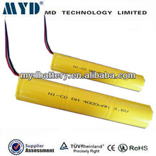 High Temp ni-cd d 5000mah rechargeable battery 1.2v x3 pack