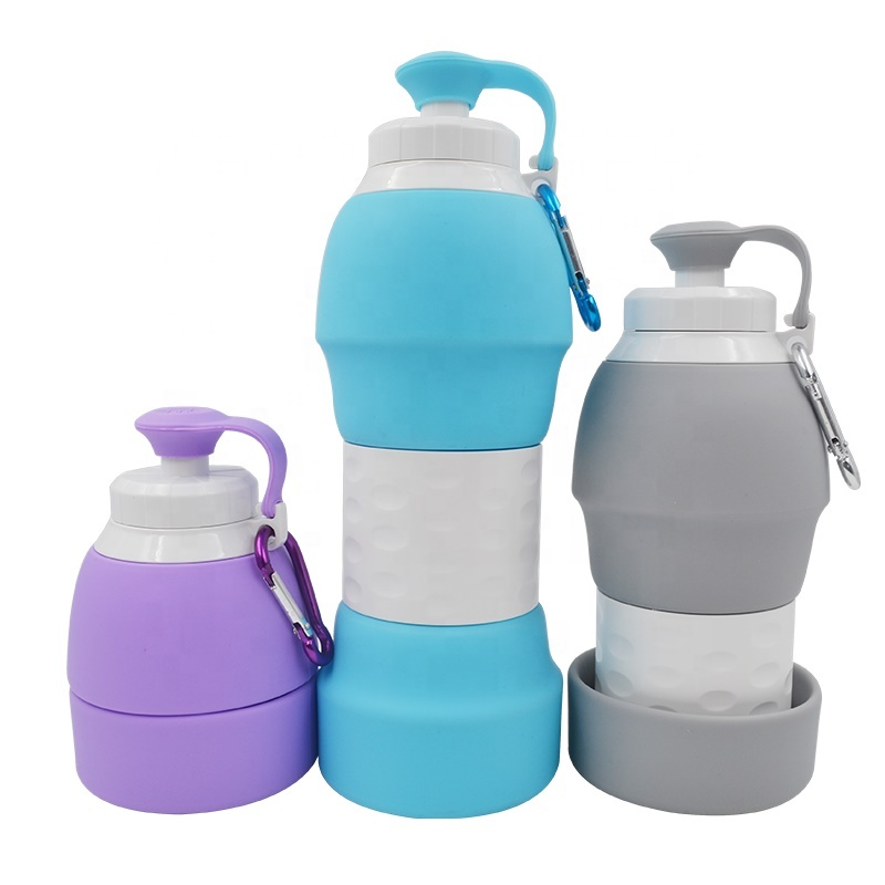 cheap wholesale food grade silicone bpa free collapsible water bottle with free <strong>samples</strong>