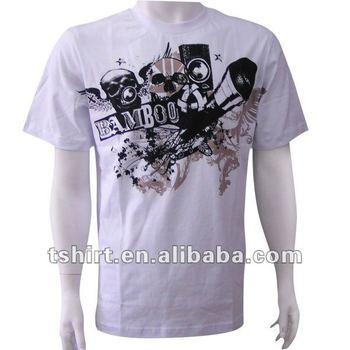 Men 39 s printing organic cotton discharge t shirt buy t for Organic cotton t shirt printing