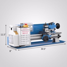 "7""x14"" 550W Precision Mini Metal Lathe Metalworking china cnc lathe machine"