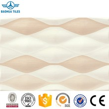 Factory supply 3D Textured White Glossy Ceramic Wall Tile