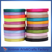 different colors Single Face narrow satin ribbon