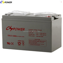 China Deep cycle 12 volt 100ah Sealed lead acid battery with 3 years warranty