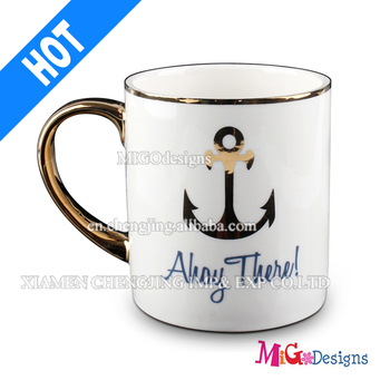 Elegent Ceramic Mug with Customized Pattern Cup for Christmas Gift-MG01160034