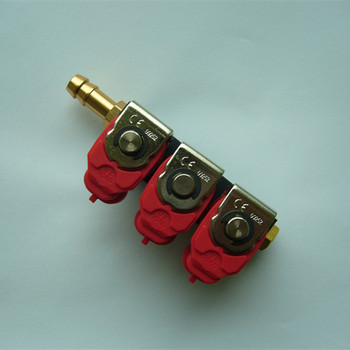cng lpg RC injector rail red black for cars conversion kit