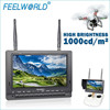 "Mini RC helicopter 7"" 800x480 resolution 360 eversion quadcopter FPV display with dua Antenna"