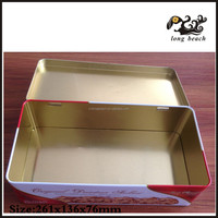 0.23mm thickness tin material and moon cakes gifts food,gifts,cookies use square metal tin box
