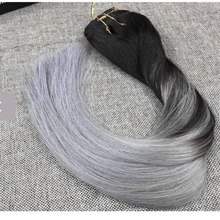 Raw cambodian ombre natural clip in extensions for thin hair