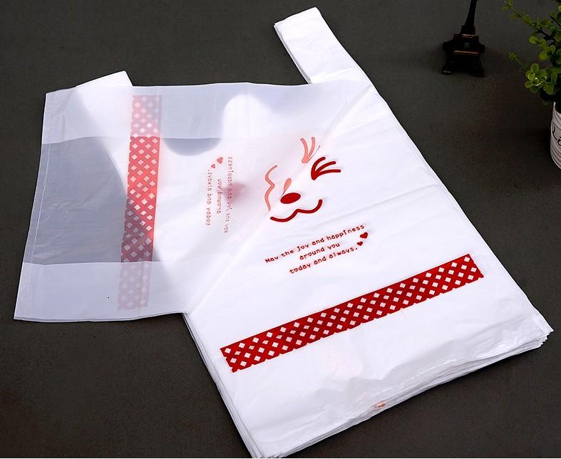 Wholesale vest or t shirt plastic packaging bag for Custom plastic t shirt bags
