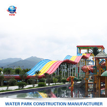 Water Slide Manufacturer children's water pool playground equipment fiberglass water park Rides for Sale