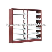 wood decorative Steel library bookshelf for school