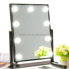 Table Top Lighted Beauty Salon Glam LED Hollywood Vanity Makeup Mirror with Lights Bulbs