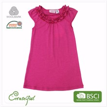 Beautiful wholesale wool summer wear baby girl child fashion dress