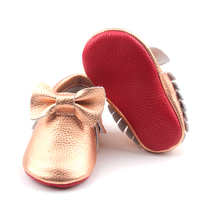 Wholesale Baby Shoes Red Bottom Shoes Leather Baby Moccasins