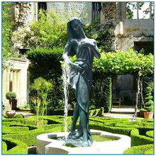 outdoor bronze lady water fountain for sale