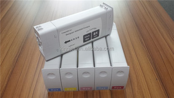 6 color 680ml No.81 Premium quality compatible ink cartridge for Hp Designjet 5500 5500ps 5000 5000pc hp 81 ink cartridge