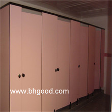 standard pink HPL/Compact Laminate/Toilet Partition Cubicle