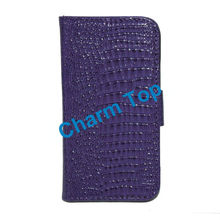 2013 Hot Sale Crocodile Leather Wallet Case For Samsung s4