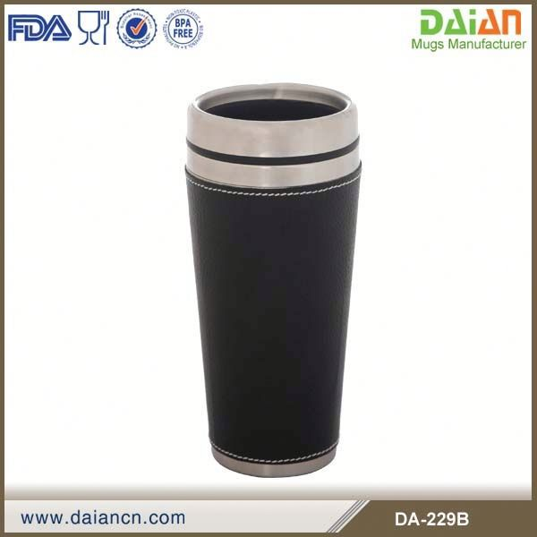 Wholesale Vacuum Insulated 16oz Matte Black Travel Tumbler