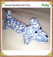 Multicolor animals style Pet Toys cotton rope Crocheted toys Dog bites Bone Funny play toys for Small dog/Cat