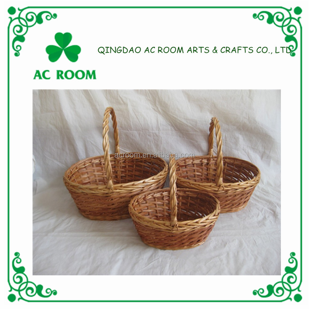 Wholesale cheap willow wicker basket valentine / christmas gift basket decorations