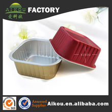 aluminum foil sushi food container box with lid make in China