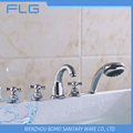 High Quality Product FLG614 Lead Free Chrome Finished Cold&Hot Water 5 PCS Bathtub Shower 5 Holes Faucet set