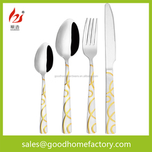 Gold Plated Cutlery Mirror Polish Stainless Steel Set, Home Essential Cutlery,Used Restaurant Flatware/Tableware