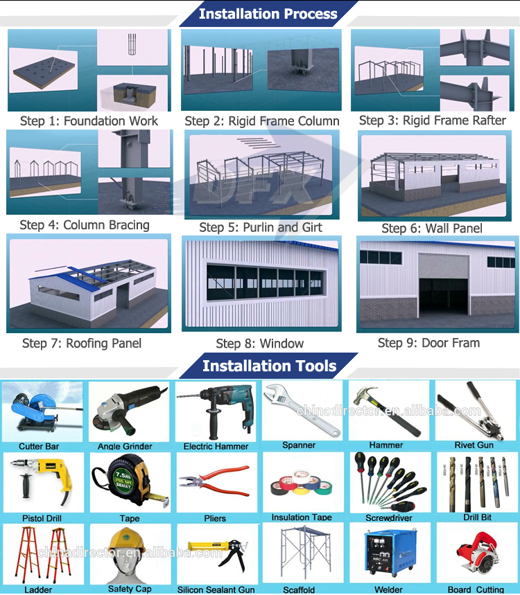 2018 Customized Steel Waterproof Prefabricated Poultry House