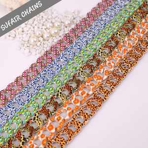 Wholesale new design colored snake anodized aluminum chain for handbag
