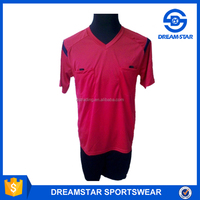Promation Low Price Red Referee Soccer Jersey With Pocket
