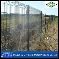 (17years factory)Green vinyl coated welded wire mesh fence