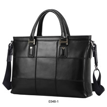 leather shoulder office bags for men in black and blown color