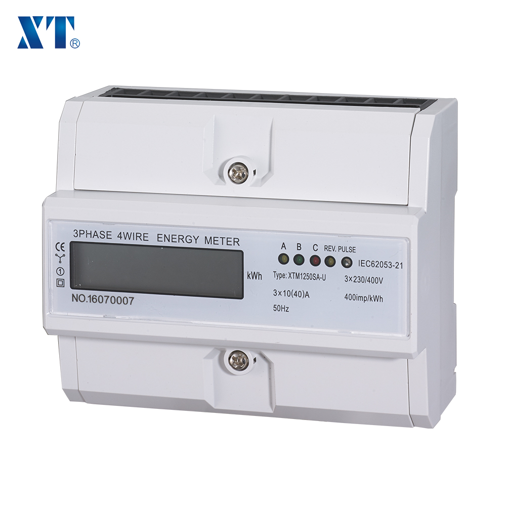 ENERGY METER EXPERT / Active LCD Display DIN Rail Multi Tariff Three Phase Energy Meter XTM1250SF